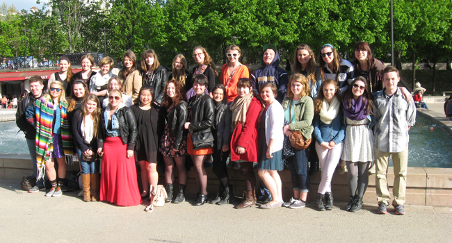 APHS students visited France during Spring Recess 2014