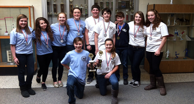 Algonquin Middle School's 2014 Region 4 Odyssey of the Mind First Place Teams